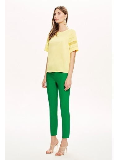 NaraMaxx Fileli Bluz Sarı